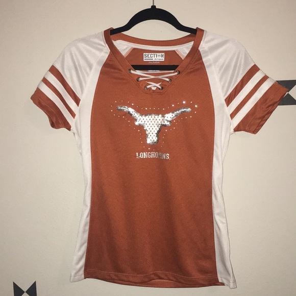 differently b21a2 09236 Women's S Texas Longhorn Fan Football Jersey