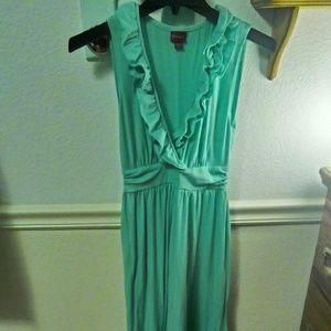 Beautiful turquoise maxi dress