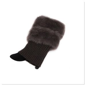 Dark Gray Faux Fur Boot Cuffs