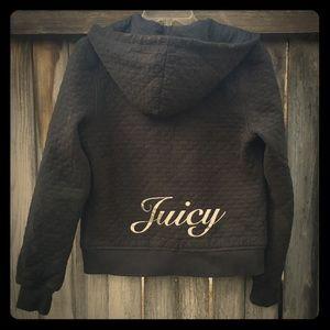 Juicy quilted navy blue hoodie L