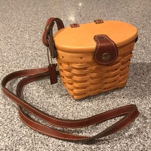Longaberger small purse basket with liner