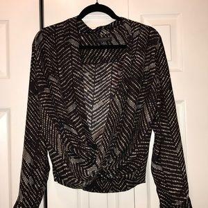 Waverly Grey silk top