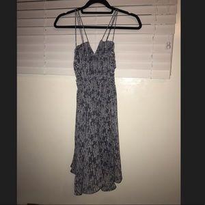 Grey sequin print dress