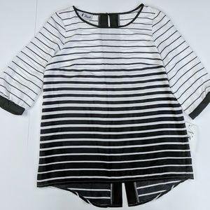 Stripes Black and White Blouse