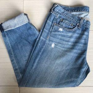 Rag & Bone Moss Wholes Boyfriend Cut Crop Jeans