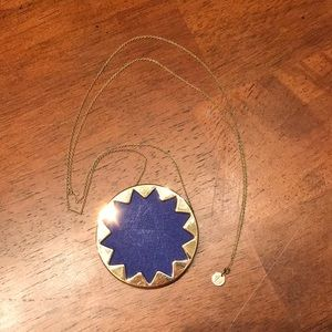 House of Harlow blue leather pendant necklace