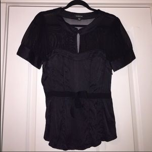 NWOT Bebe satin like blouse