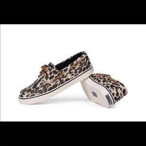 Sperry Top-Sider Bahama sparkle leopard boat shoe