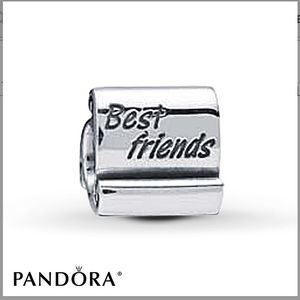 "💍 Pandora ""Best Friends"" Scroll Charm BFF 💕"