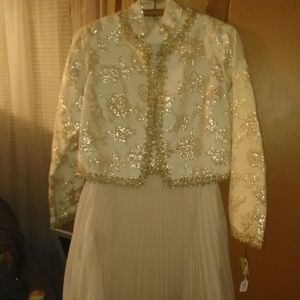 Vintage Beautiful Sequined Party Dress