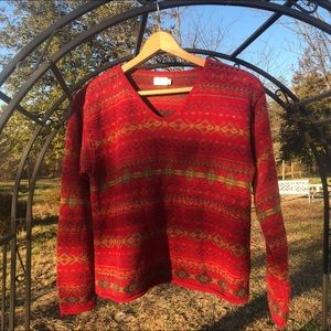 Vintage Alps • Fair Isle Sweater Knit for women