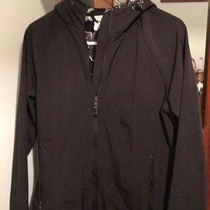 Euc black jacket size large.  Fleece lining
