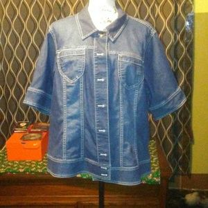 Coldwater Creek denim shirt