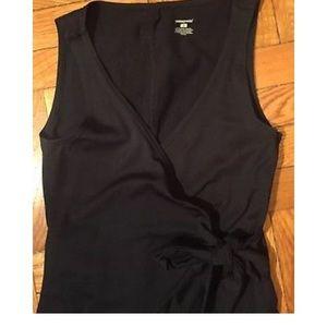 Wonderful Patagonia faux-wrap black dress - S