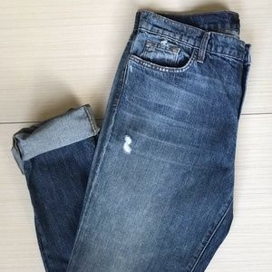 J Brand Low Rise Boyfriend Cropped Jeans