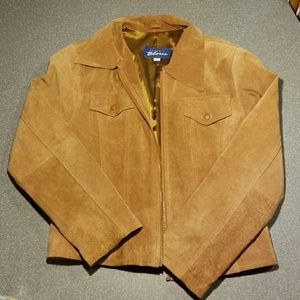 Express bleus suede leather jacket