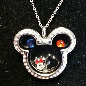 Stainless steel mickey mouse floating charm locket