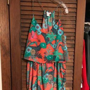 Strappy floral resort dress