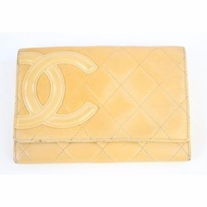 Chanel Beige Quilted Cambon Flap 18cj930 Wallet