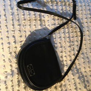 Kate Spade leather satchel in black