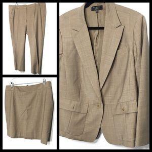 Talbots 3-Piece Wool Blend Suit 18/20 Petite