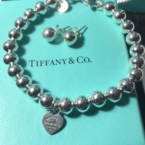 Tiffany & Co Silver Ball Bracelet & Earrings