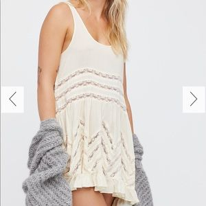 {FREE PEOPLE} NWT Voile & Lace Trapeze Slip Dress
