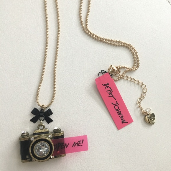 6c91198eece Betsey Johnson Camera Pendant Necklace