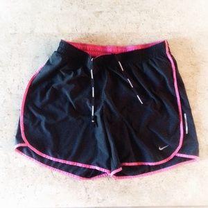 🏴 Nike Dri-Fit Running Shorts Blk/Pink Large