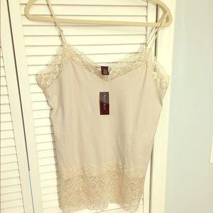 NWT White House Black Market Ivory Lace Camisole