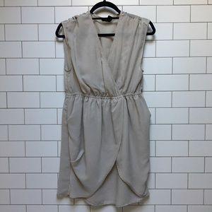 H&M // beige chiffon dress