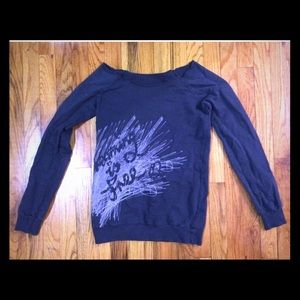 H&M off the shoulder tunic sweatshirt