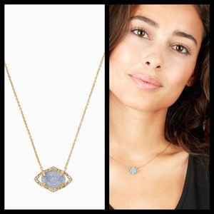 Stella and Dot Charlotte Blue Druzy Necklace