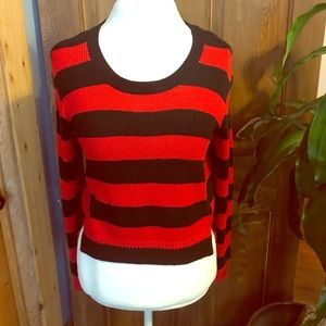 Red & Black stripped sweater