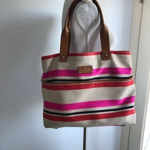 Kate Spade canvas and leather bag
