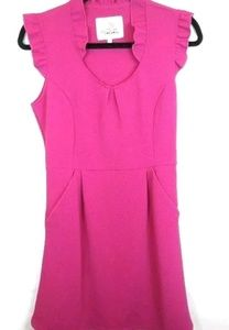 Anthropologie Tabitha Cherie Sheath Dress Fushia P