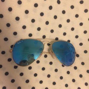 Polarized Ray Ban Aviator blue/gold