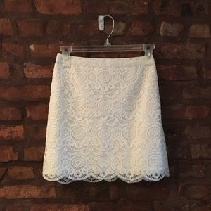 NWT Hollister white lace skirt.