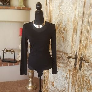 Black Long Sleeve Bodysuit New with Tags