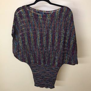 Lightweight crocheted like sweater top size S