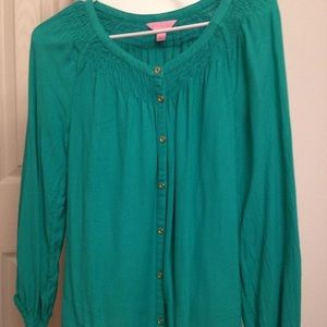 Lilly Pulitzer button down blouse - XS