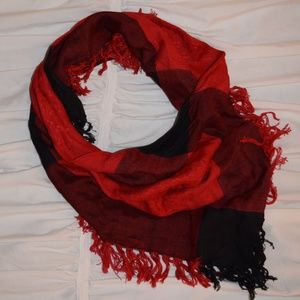 3 for $15! Red & Black Plaid Triangle Scarf