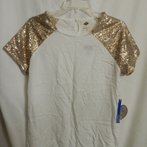 NWT Womens Rue 21 Sequence Blouse Sz M 100% Rayon
