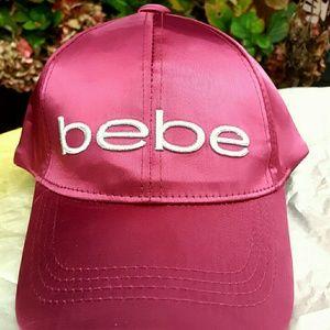 New! Bebe Burgundy Baseball Hat