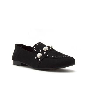 Shoes - Black Pearl and Studded Loafers|