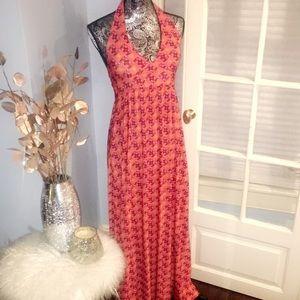 Floral Maxi Halter Dress