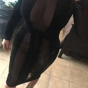 Mesh styled dress