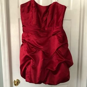 Bridesmaid, form, cocktail dress, red