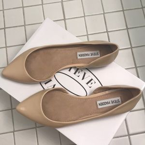 96eb86d614b Steve Madden Elusion Patent Leather Nude Flat