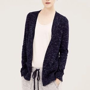 Lou & Grey Open Heather Navy Cardigan